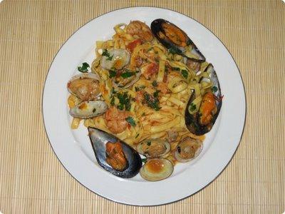 Spaghetti  con marisco