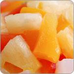 Ensalada de frutos al cubo