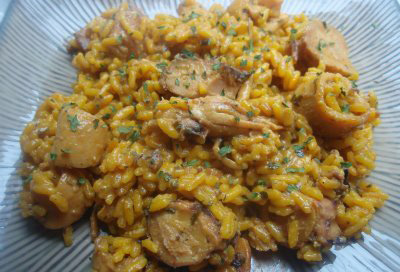 Arroz Picante con pulpo y chipirones